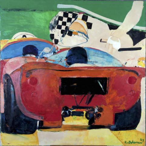 """K. van Bohemen (1929-1985) - """"Las vegas/ Le mans"""". Ges. R.O. en '67."""