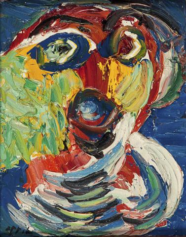 Karel Appel (1921-2006) - Cobramasker. Ges. L.O.