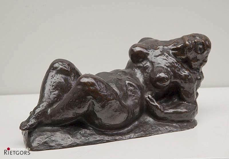 J. Polet (1894-1971) - Barende vrouw. Ges.