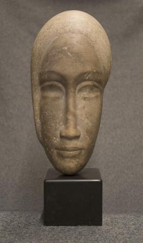 J. Vermeire (1885-1978) - Vrouwenmasker. Ges. in verso.