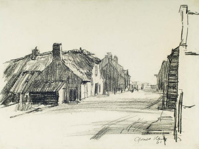 G. Kloens - Gezicht in Papendrecht. Ges. R.O.