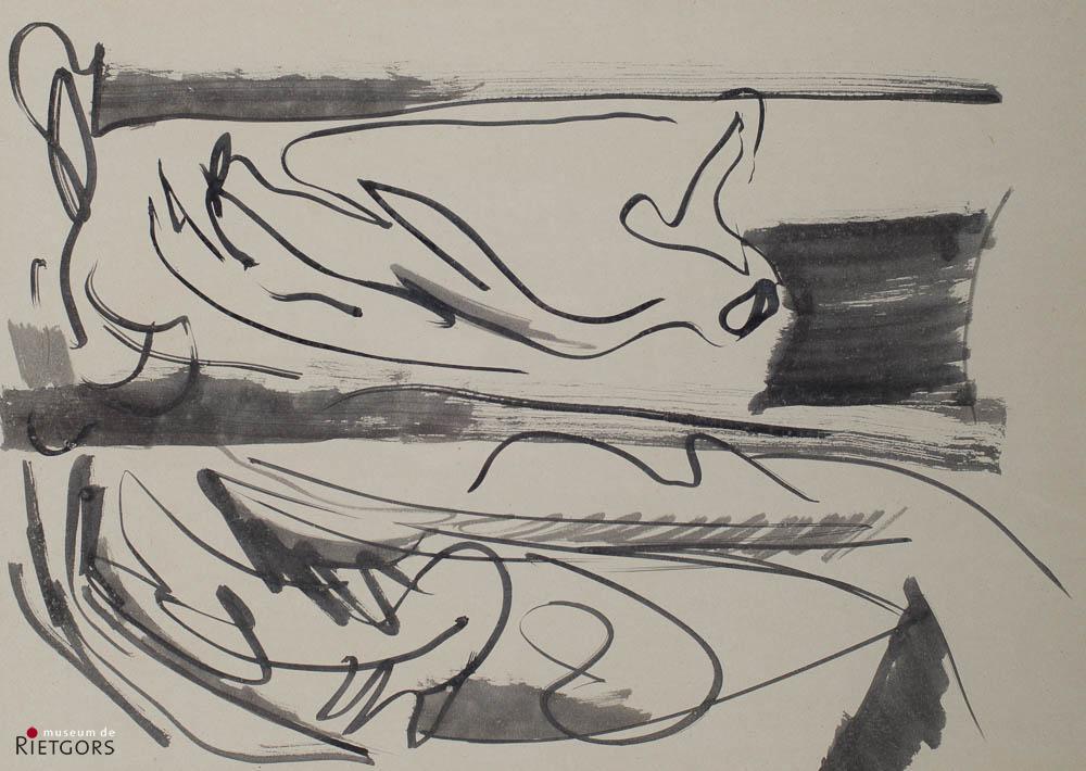 """R. Duyf (1950) - """"Draperiën"""". Ges. R.O."""