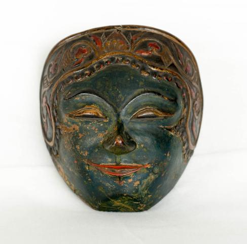 Indonesië, midden Java - Een beschilderd houten Dansmasker