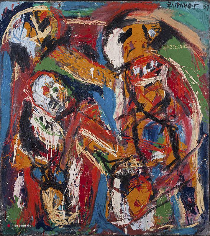 """H.P. Zimmer (1936-1992) - """"Die Familie"""". Ges. R.B. en '67."""