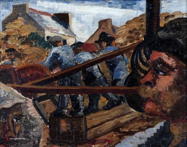 "Ch. Toorop (1890-1955) - ""Dorsmachine. Ges. L.O. In verso Bretagne 1928."""