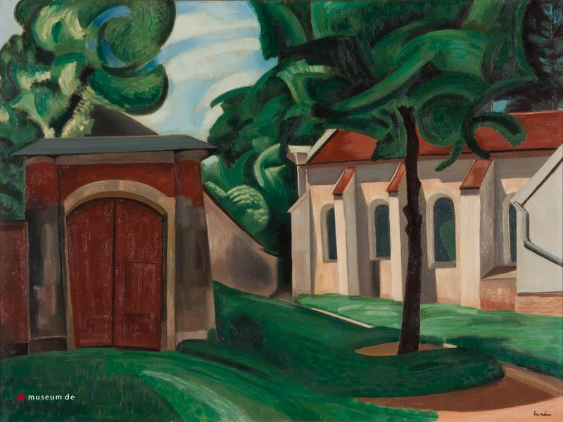 A. Herbin (1882-1960) - Eglise a vaison la Romaine, 1924. Ges. R.O.