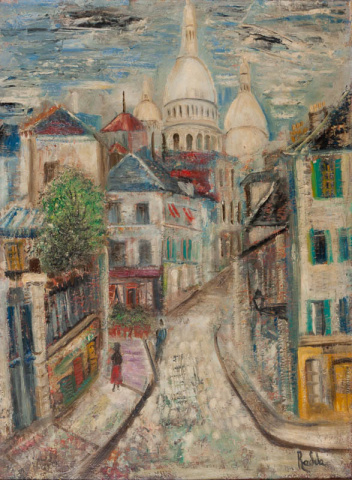 """Julie Florent ""Radda"" (1891-1967)"" - Sacre Coeur, Parijs. Ges. R.O."