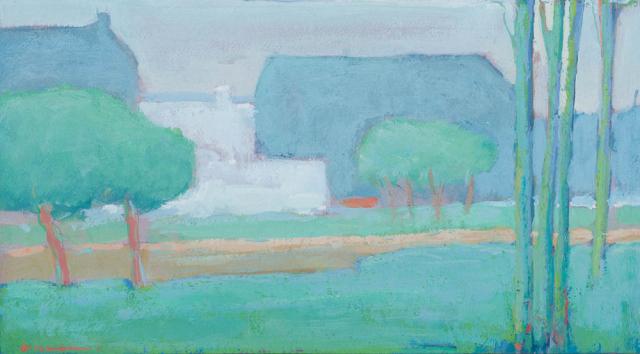 A. Mouthaan (1940) - Landschap. Ges. L.O.