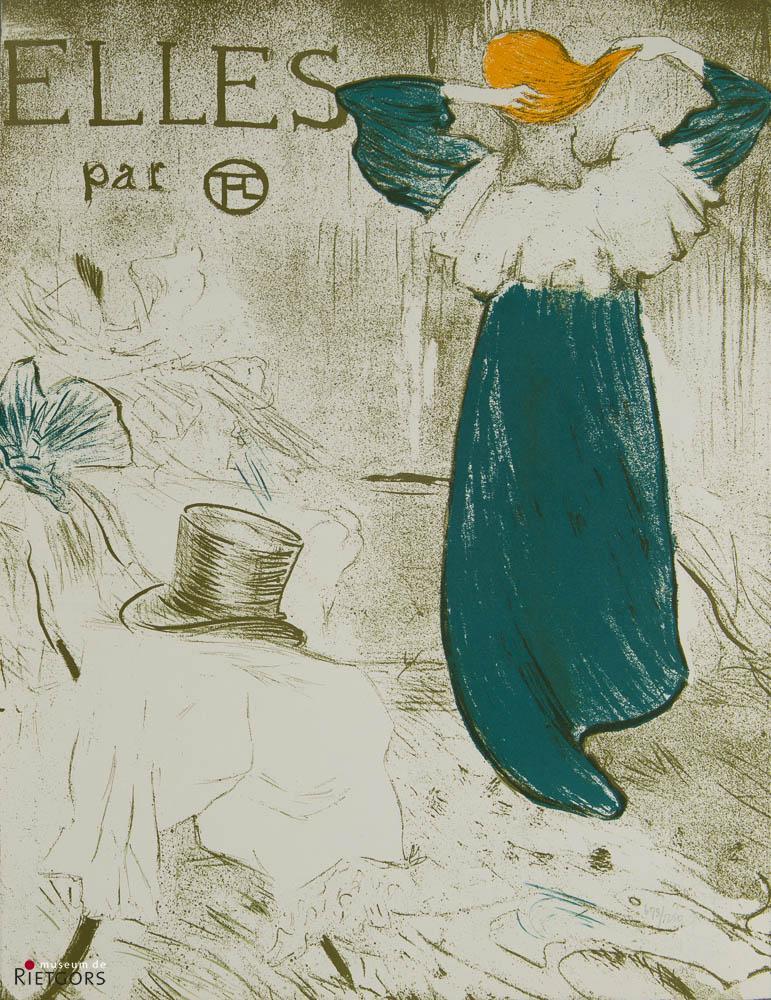 """""""H. de Toulouse Lautrec (1864-1901)"""" - Facsimile-uitgave van """"Elles"""". 698/1250."""