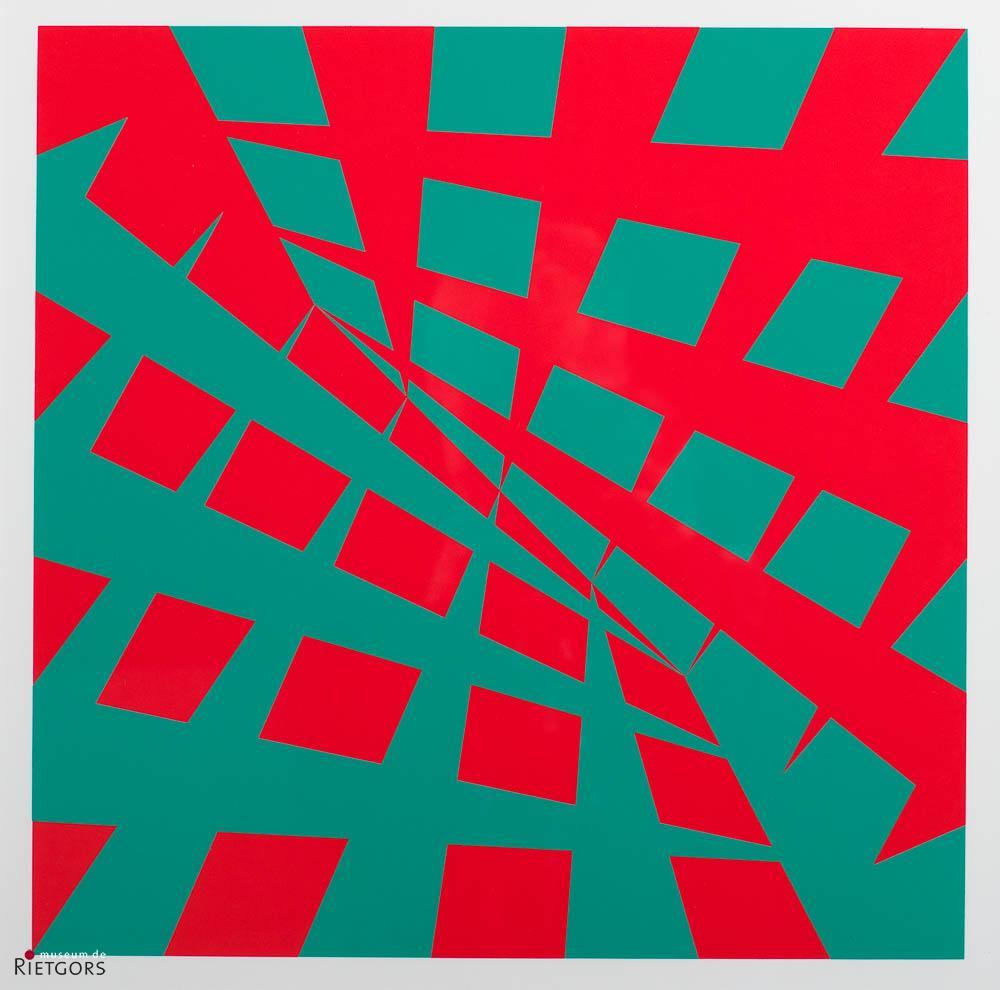 P. Struycken (1939) - Non-figuratief. 166/200.