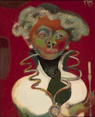 D. Henkes (1903-1989) - Publieke vrouw. Ges. R.B. en '69.