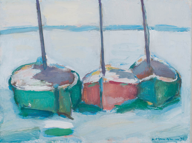 A. Mouthaan (1940) - Drie scheepjes. Ges. R.O.