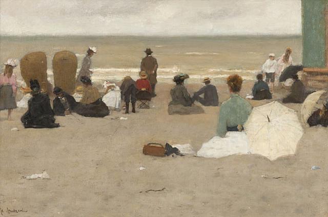 F. Arntzenius (1864-1925) - Het Scheveningse strand.