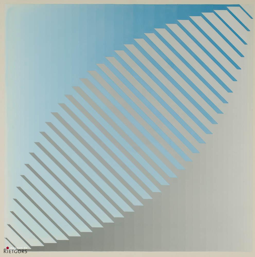 B. Buissink - Compositie in bruin en blauw.