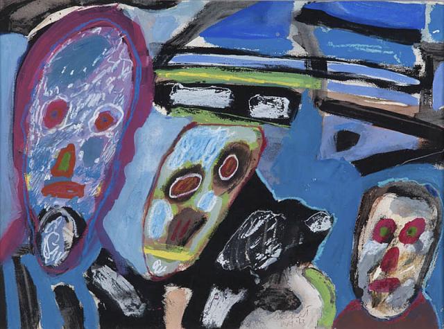 Lucebert (1924-1994) - Maskers. Ges. en mrt. '63.