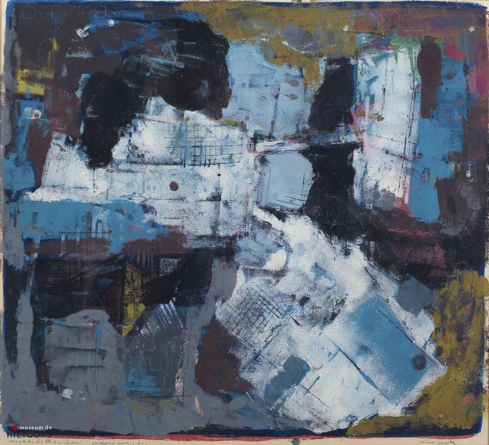 "W. Motz (1900-1977) ""Zonsondergang 1960"". Ges. R.O."