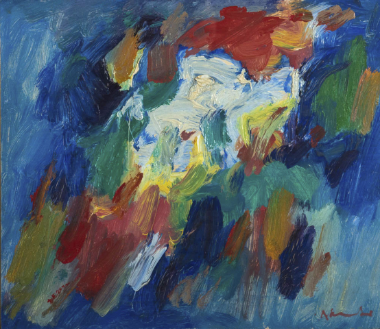 "A. Mouthaan (1940) - Abstract, ""beweging"". Ges. R.O."