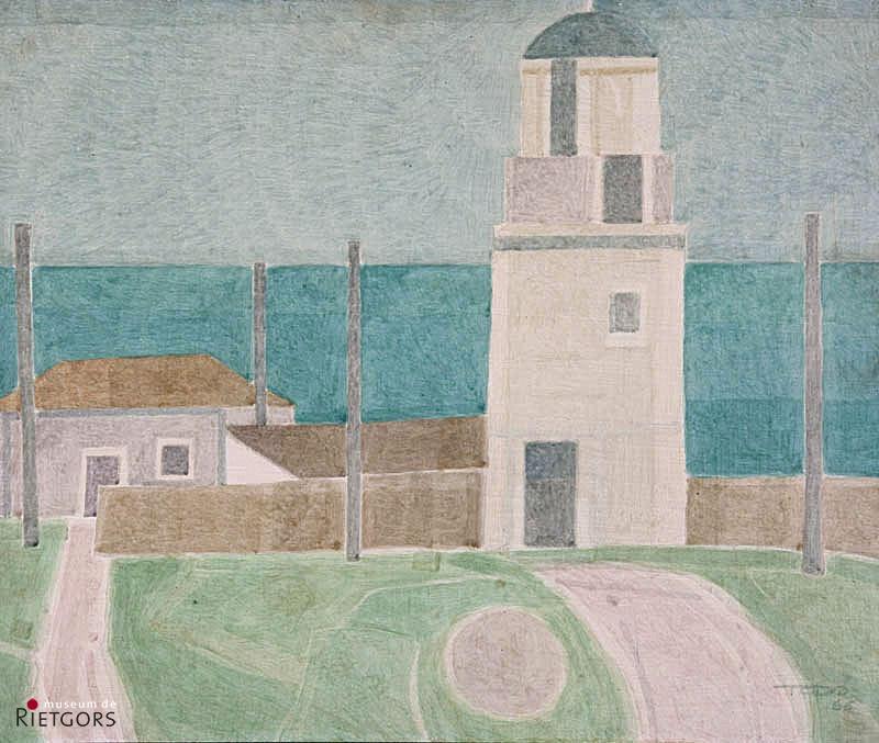 F. Todo (1922) - Vuurtoren bij Santander. Ges. R.O. en '66.