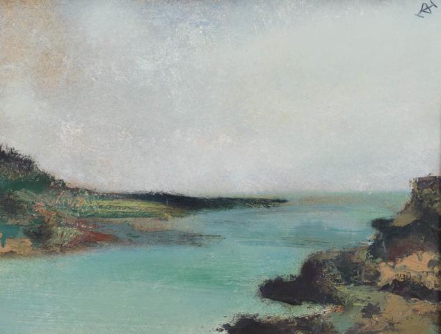 D. Henkes (1903-1989) - Binnenmeer in Schotland. Ges. R.B.