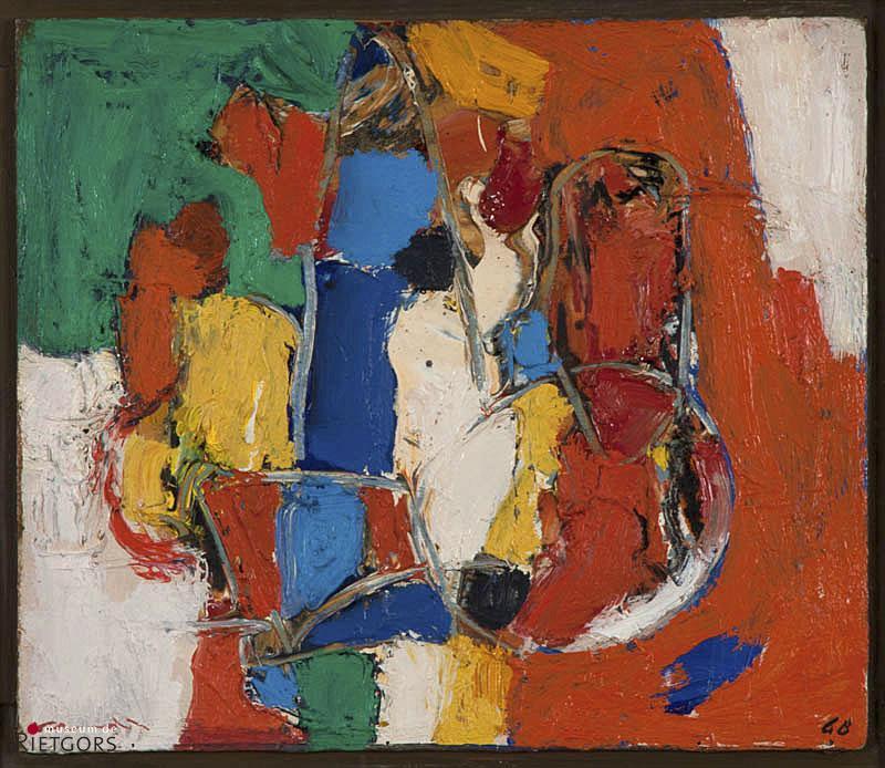 J. Kropff (1892-1979) - Opbouw Delft, Abstract. Ges. L.O. en '68.
