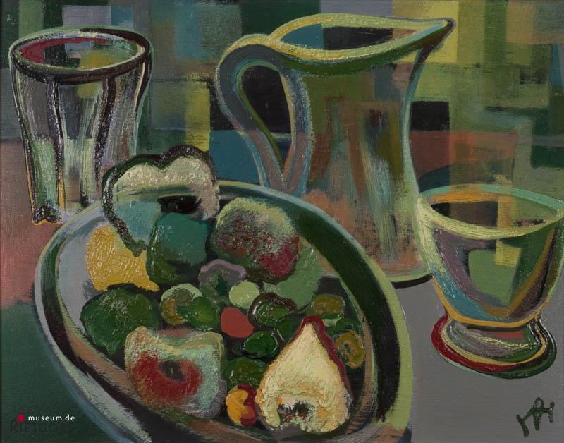 D. Henkes (1903-1989) - Fruitstilleven naar Massot. Ges. R.O.