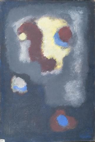 B. de Bruin - Abstracte compositie. 1955.