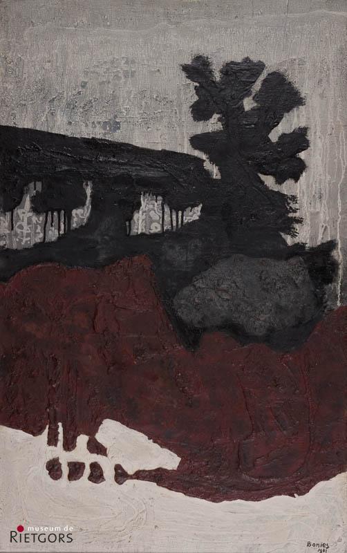 Bob Bonies (1937) - Landschap met bomen. Ges. R.O. (en 1961).