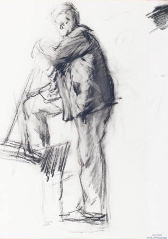 Suze Robertson (1857-1922) - Werkman.Gem. met atelierstempel.