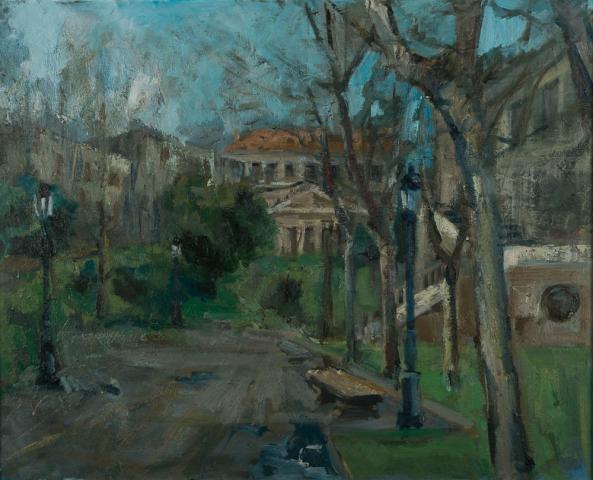 A. Vives Fierro (1940) - Paseo del Prado, Madrid. Ongesigneerd.