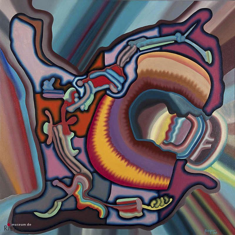"S. Rostrup (1947-1997) - ""Organisch constructief XVII. Ges. R.O. en 1969."""