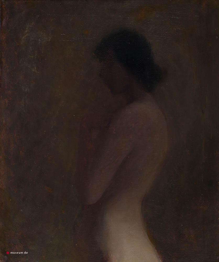J. Kropff (1892-1978) - Vrouwelijk naakt. Niet gesigneerd.
