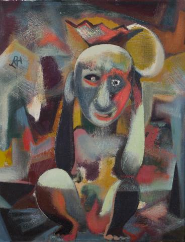D. Henkes (1903-1989) - Zittende gestoorde. Ges. L.B.