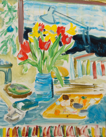 """T. Niermeier (1940-2005) - """"Stilleven met atelierattributen. Ongesigneerd."""""""