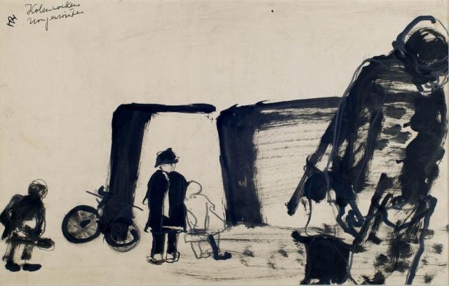 D. Henkes (1903-1989) - Kolen zoeken, hongerwinter.