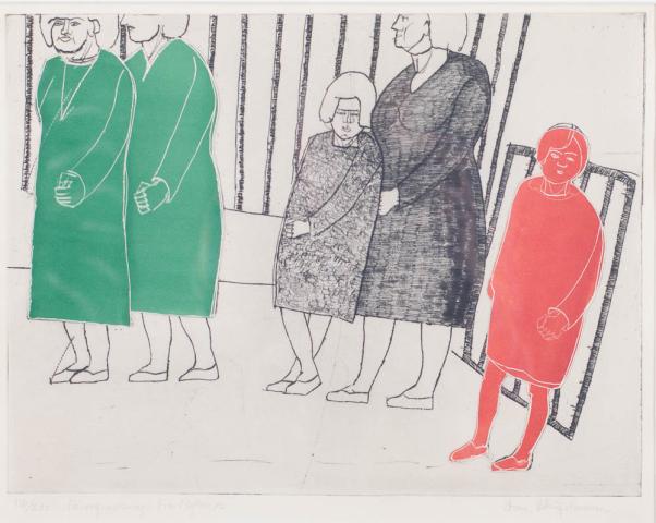 """D. Sterup Hansen (1918-1995) - """"Vrouwen in Psychiatrische inrichting. Ges. R.O. en 118/200."""""""