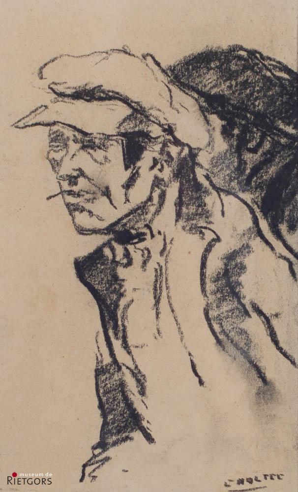 B.C. Noltee (1903-1967) - Twee werklieden met petten. Ges. R.O.