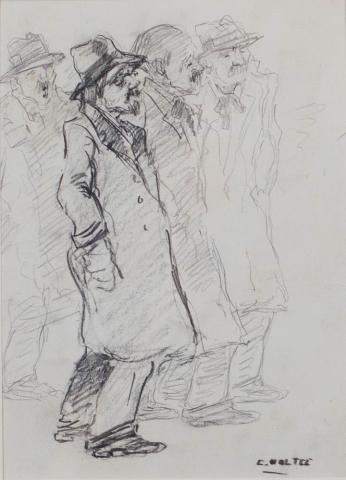 B.C. Noltee (1903-1967) - Straatfiguren. Ges. R.O.
