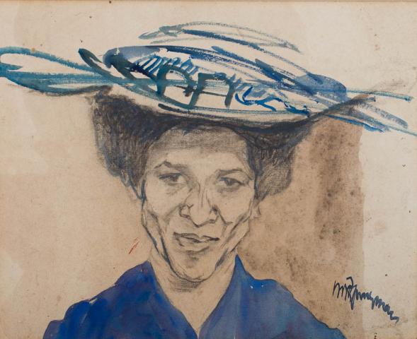 M.J.B. Jungmann (1877-1964) - Creoolse vrouw. Ges. R.O.