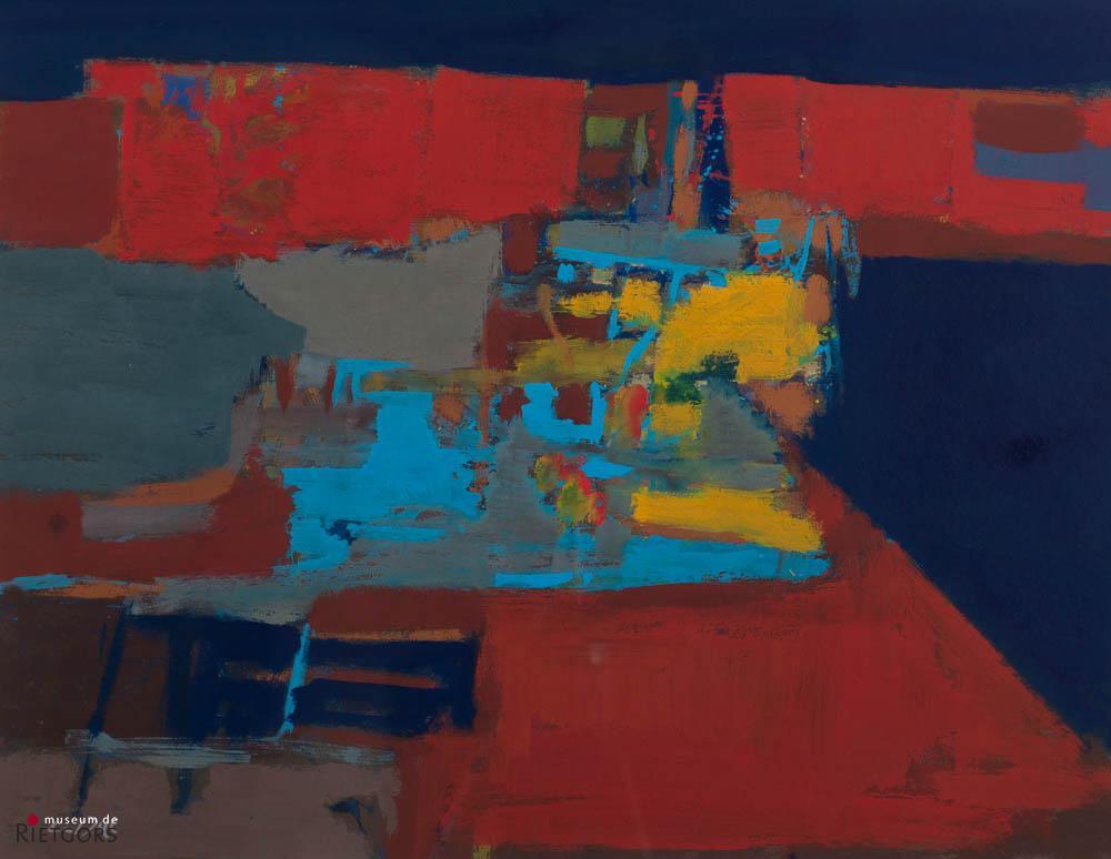 C. van Dijl (1934-2007) - Loodsen in Dordrecht. Ges. L.O.