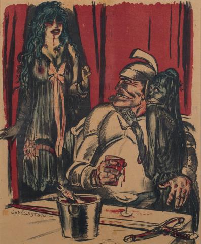 Jan Sluijters (1881-1957) - Oorlogsprent