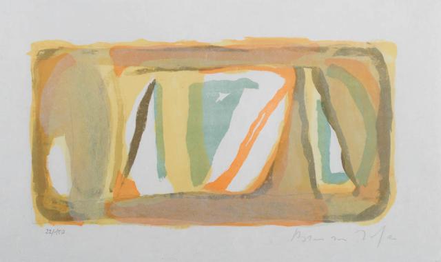 """B. van Velde (1895-1981) - """"Entendue"""". Ges. R.O. 22/150."""