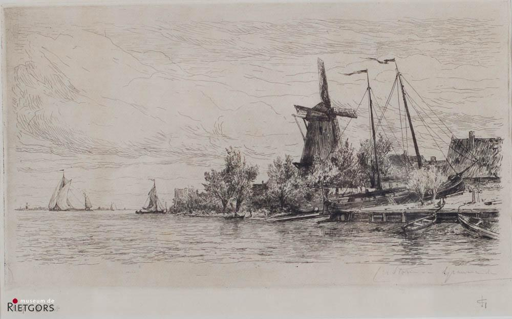 C.N. Storm van 's Gravezande - Werf te Papendrecht. Ges. Ets. 3e staat.