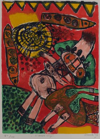 Corneille (1922) - L'Aurore rouge. 1967. 187/190.