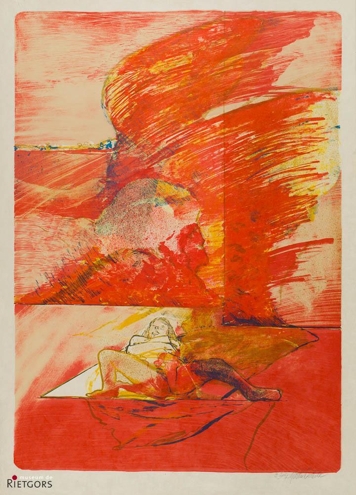 M. Dieterle (1935) - Liggende vrouw. 2/7. Ges. R.O.