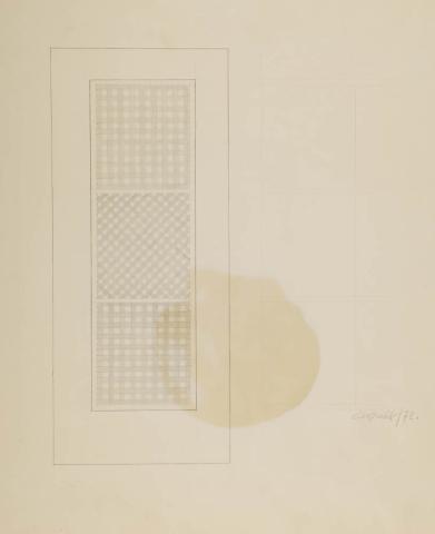 C. van Gulik (1938) - Ontwerp door beveiligingsraam. 1973.