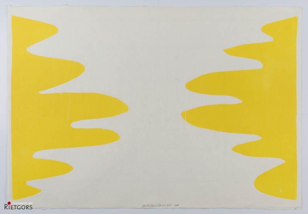 """C. Visser (1928) - """"Oker"""". Ges. M.O. en 1976."""