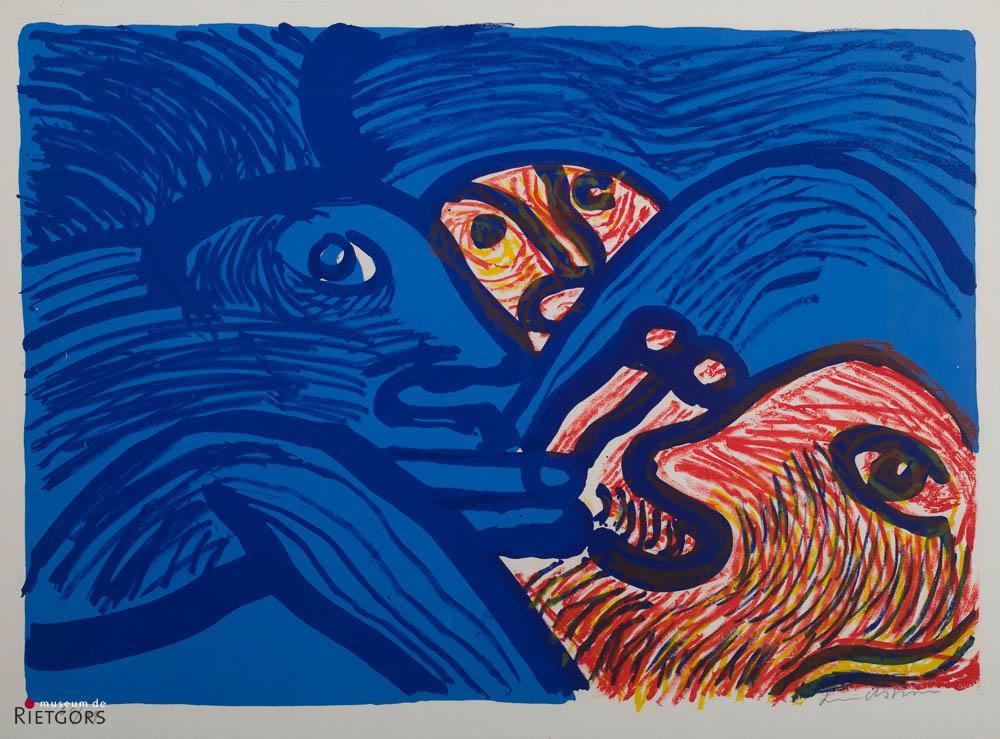 B. Lindström (1925-2008) - Heure bleu. Ges. R.O. en 60/99