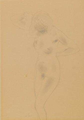 Jan Sluijters (1881-1957) - Vrouwelijk naakt.