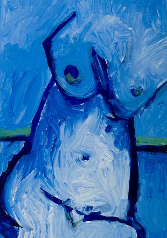 J. Kerpel - Blauw naakt. Ges. R.O.