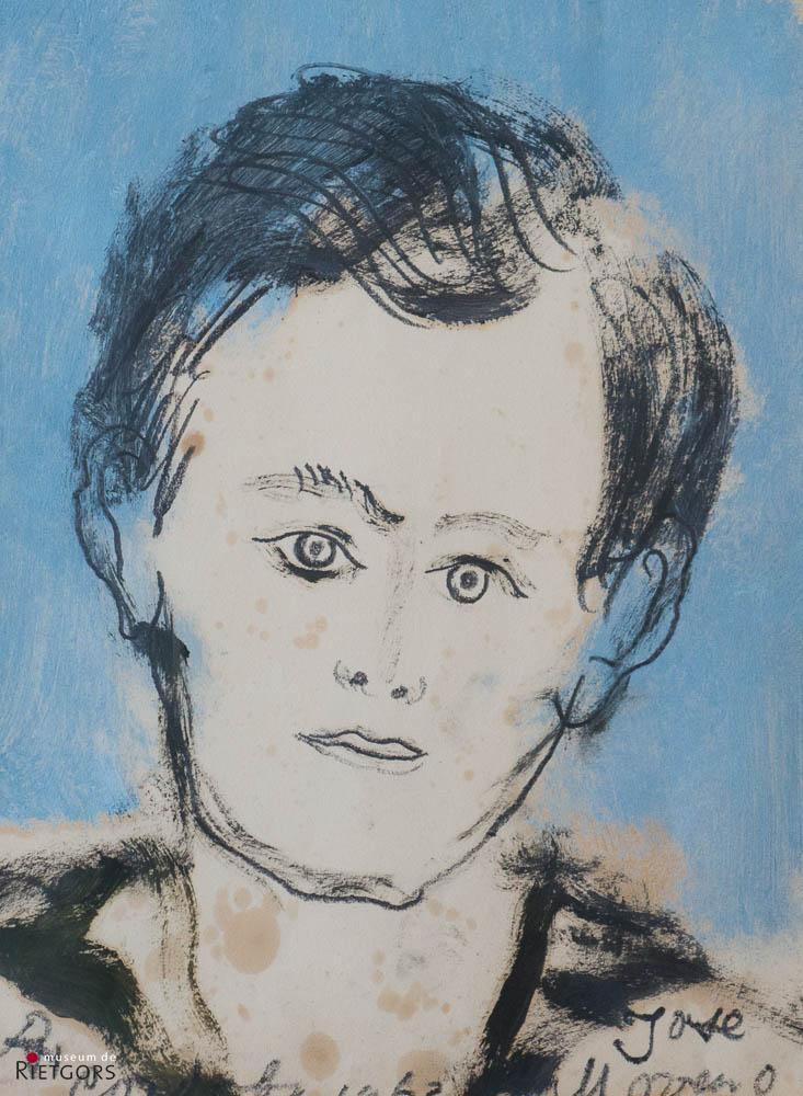 "D. Henkes (1903-1989) - ""Jongensportret ""Jose Moreno"". Ges. L.O. en '63."""